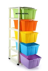 NYTK RETAIL 5XL Plastic Extra Large Multi-Purpose Modular Drawer Rack