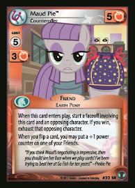MLP Maud Pie, Counteroffer Defenders of Equestria CCG Card