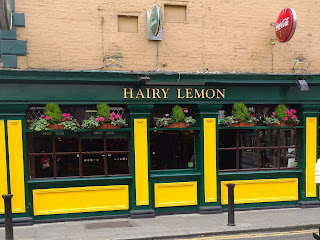 The Hairy Lemon pub, named for an unattractive dogcatcher with bad hair.