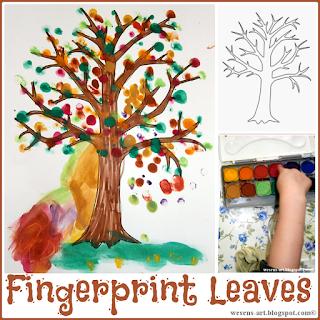 FingerprintLeaves wesens-art.blogspot.com