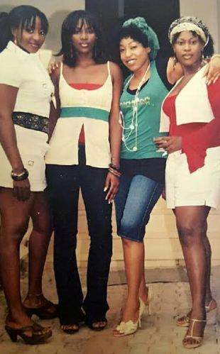 2005 throwback pic of Genevieve Nnaji, Rita Dominic, Uche Jombo and Ini Edo