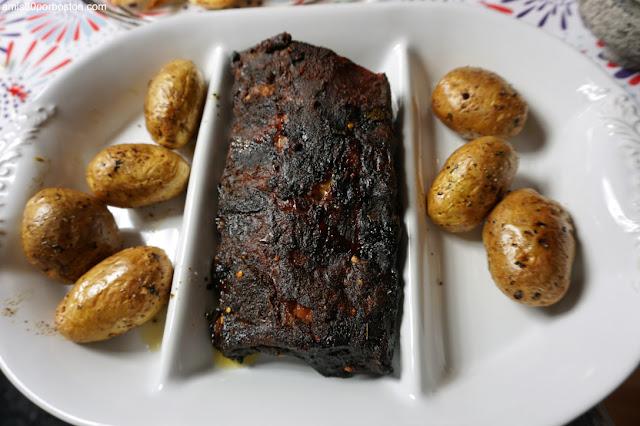 Costilla Ahumada y Patatas Asadas en la Air Fryer