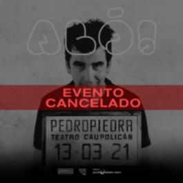 Se cancela el show de Pedropiedra en el Teatro Caupolicán
