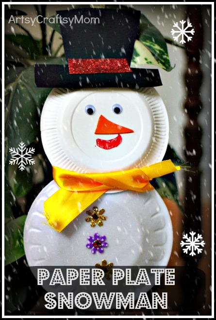 Save  sc 1 st  Artsy Craftsy Mom & Paper plate snowman u0026 cup reindeer - Craft class - Artsy Craftsy Mom