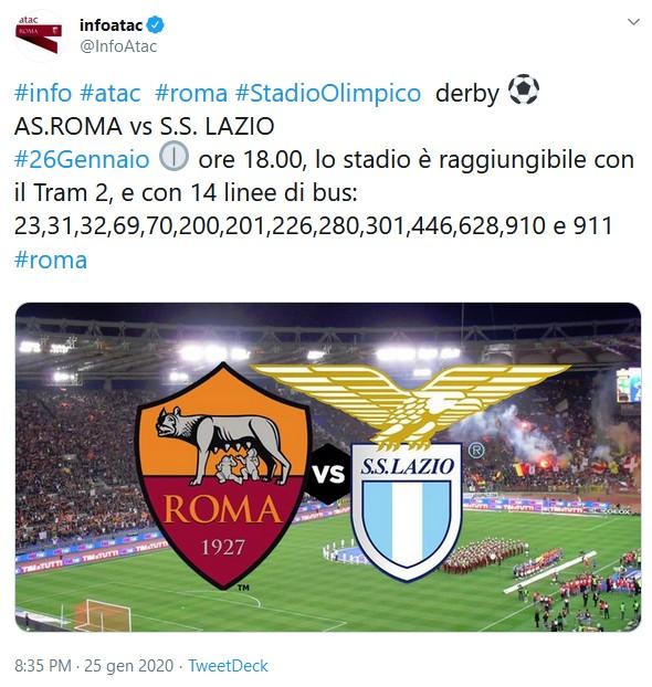 Derby Roma-Lazio, il disservizio di Atac