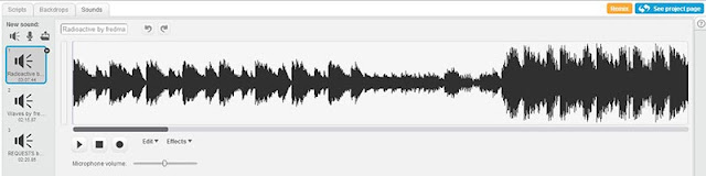 The game audio editor in Scratch