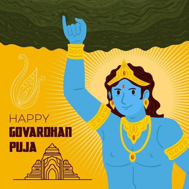 happy govardhan puja wallpaper 2021