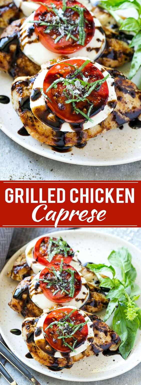 CHICKEN CAPRESE : A quick and easy dinner #dinner #chickenfoodrecipes