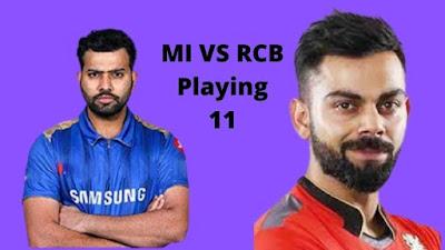 IPL 2021: 1st Match MI VS RCB Playing 11