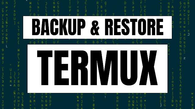 Cara Backup dan Restore Termux
