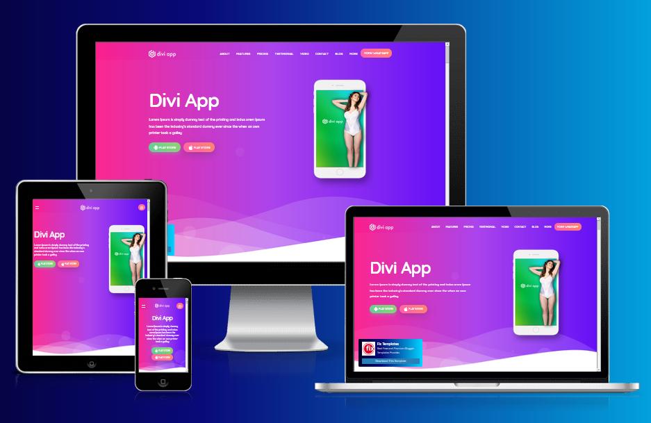 Divi App Responsive Blogger Template