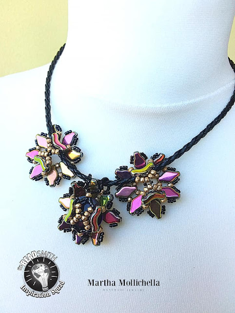 Martha Mollichella Navette bridges beads jewelry
