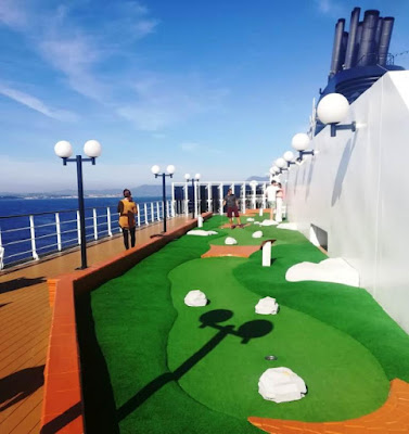 Miniature golf course on the MSC Opera by Sophia and Karl Moles, 2019