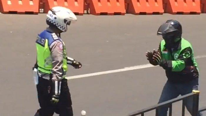 Polisi Tendang dan Pukul Driver Ojol Meski Sudah Minta Maaf, Penyebar Video Kini Diancam