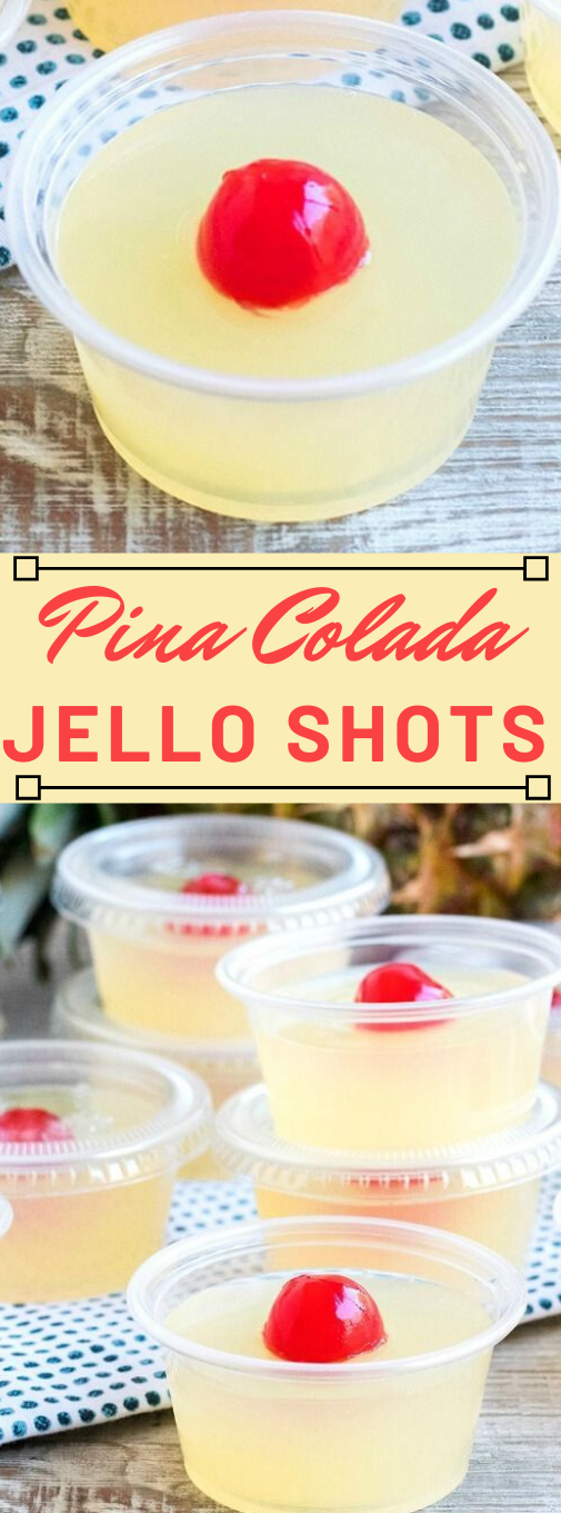 PINA COLADA JELLO SHOTS #jello #healthydiet #paleo #whole30 #party