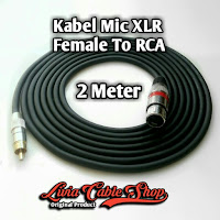 Kabel Mic XLR 2 Meter RCA to Female