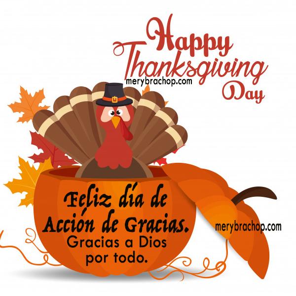 imagen bilingue para dia de accion de gracias thanksgiving day