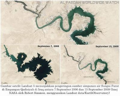 Perbedaan debit air Sungai eufrat dahulu dan sekarang