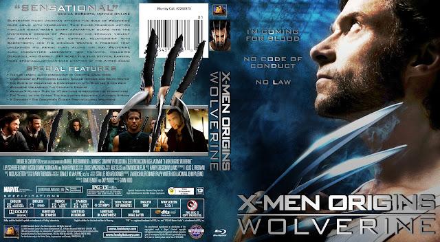 X-Men Origins Wolverine Bluray Cover
