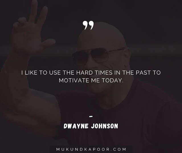 dwayne johnson quote about being nice