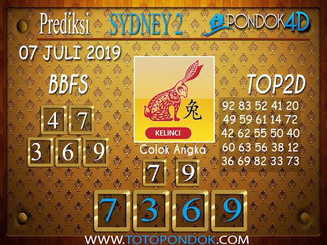 Prediksi Togel SYDNEY 2 PONDOK4D 07 JULI  2019