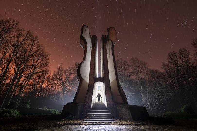 The 20-meter monument to the detachment in the Croatian forest Brezovica was built after the death of the original elm tree that grew on the site of the WWII memorial.