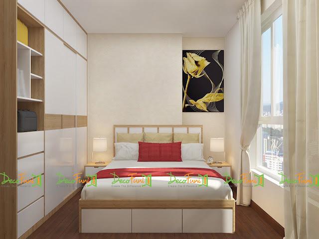 Nội thất phòng Master chung cư 70m2 - 2 phòng ngủ, chung cư Moonlight Residences