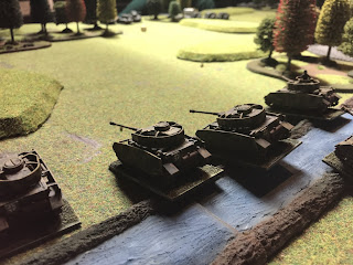 The river is crossed by German Panzer IVs