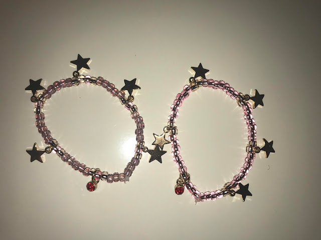 DIY Birthstone Bracelet with glass beads and star charms
