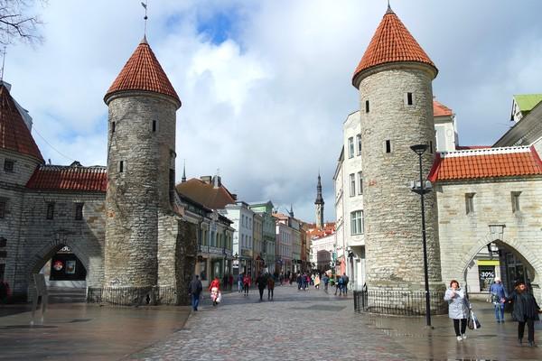 estonie tallinn vieille ville porte viru gate