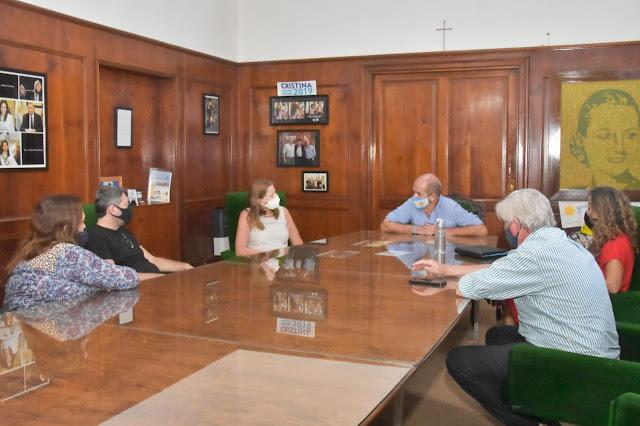 Pablo Zurro recibió a la Asesora provincial de Técnica, Inés Costa