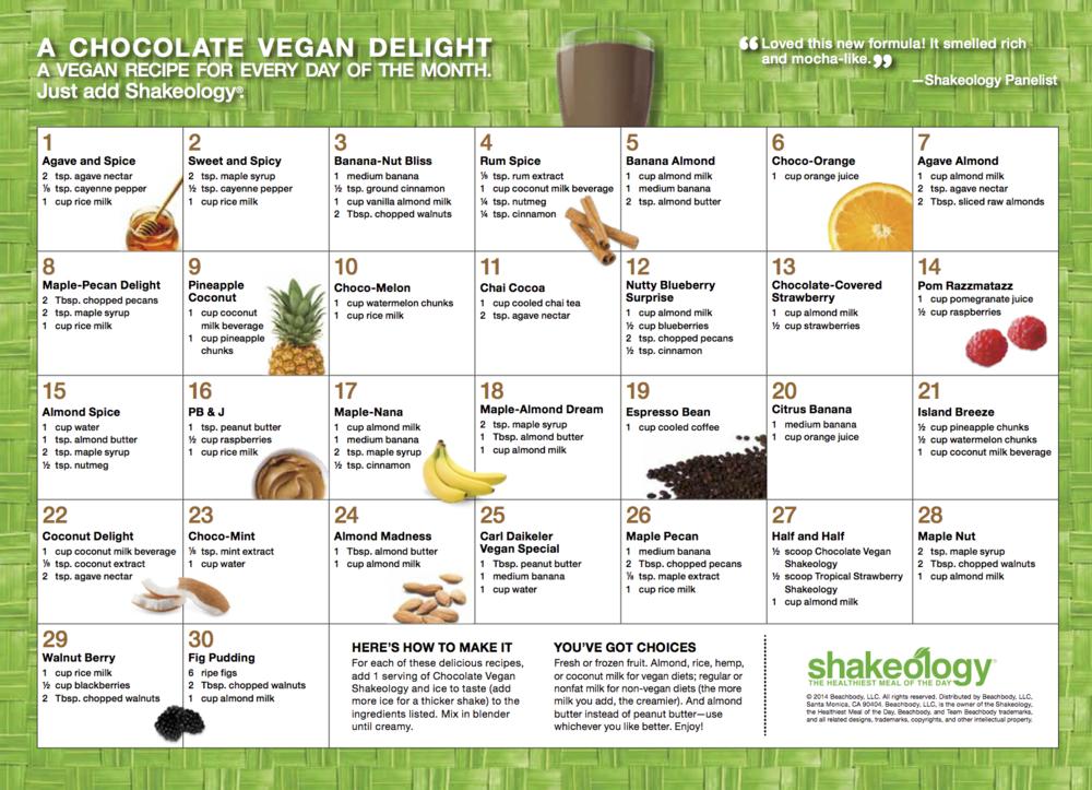 shakeology smoothie vegan chocolate