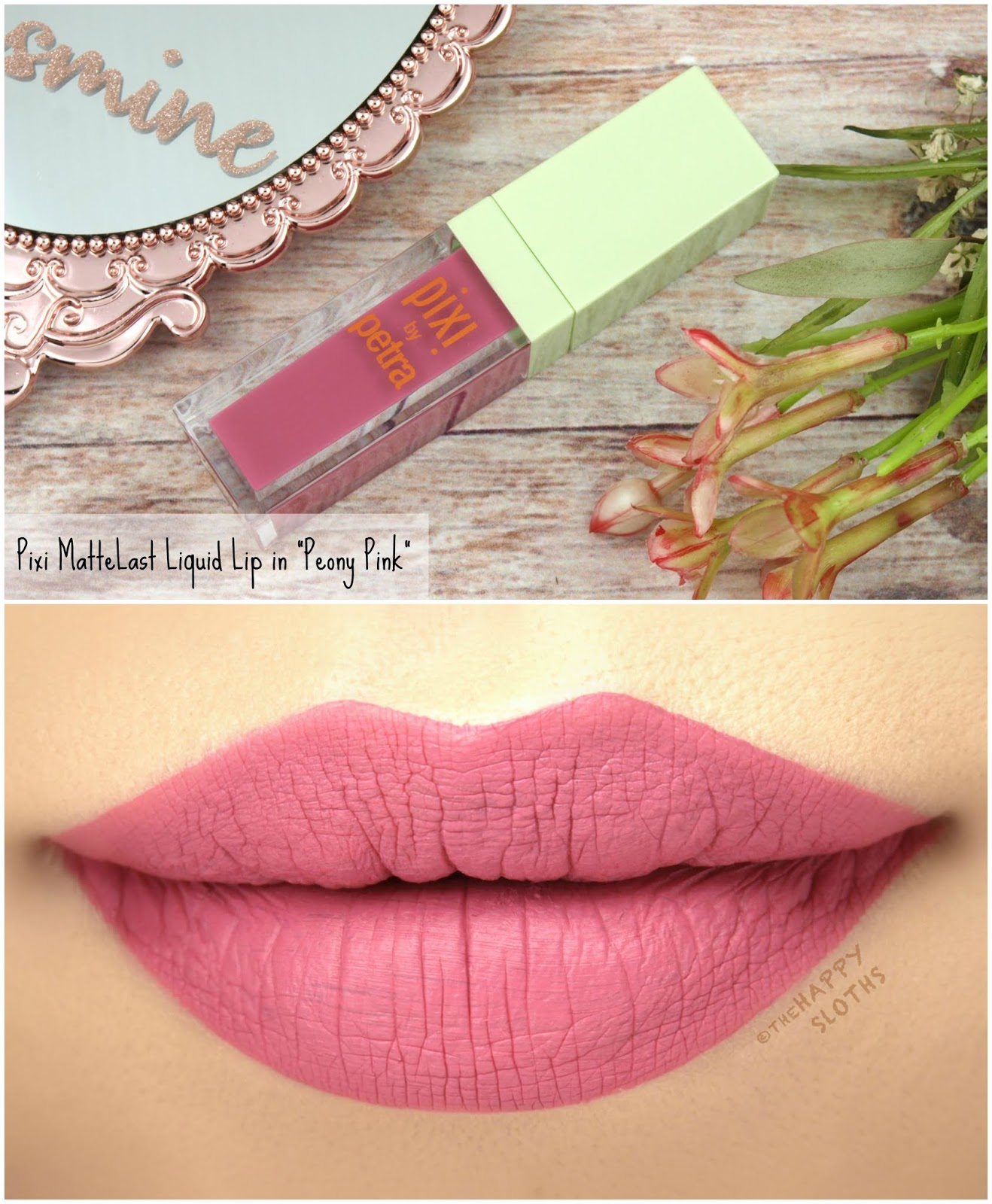 "Pixi | MatteLast Liquid Lip in ""Peony Pink"": Review and Swatches"
