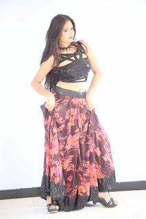Shriya Vyas in a Tight Backless Sleeveless Crop top and Skirt 85.JPG