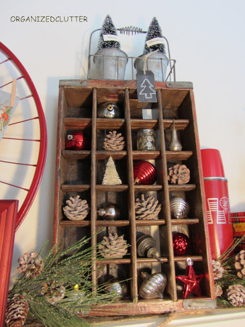 Soda crate cubby styled shelf, by Organized Clutter, featured on Funky Junk Interiors