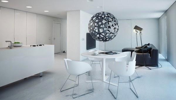 Super Minimalist Modern Apartment In White