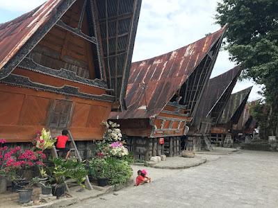 Traditional houses at Siallagan village Samosir