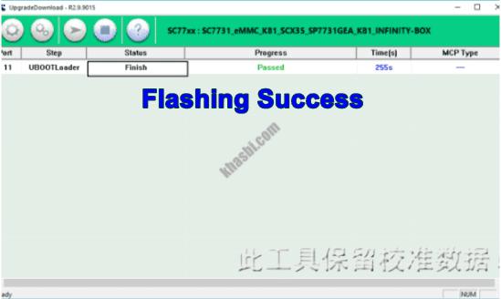 Flash Evercoss R70 Finish