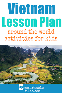 Building the perfect Vietnam lesson plan for your students? Are you doing an around-the-world unit in your K-12 social studies classroom? Try these free and fun Vietnam activities, crafts, books, and free printables for teachers and educators! #vietnam #vietnamese #lessonplan
