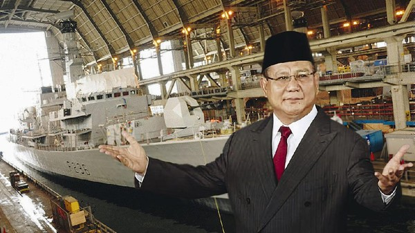 Prabowo Jawab Ancaman Kapal Perang China di Natuna