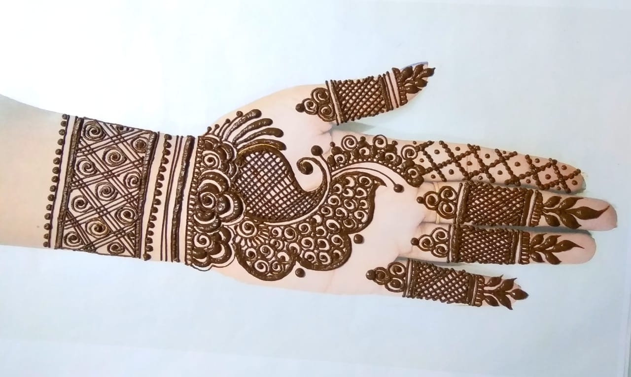 Semi-bridal-mehndi-design