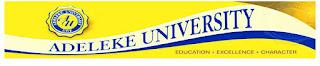 Adeleke University Pre-Degree & JUPEB Admission Forms – 2016/2017