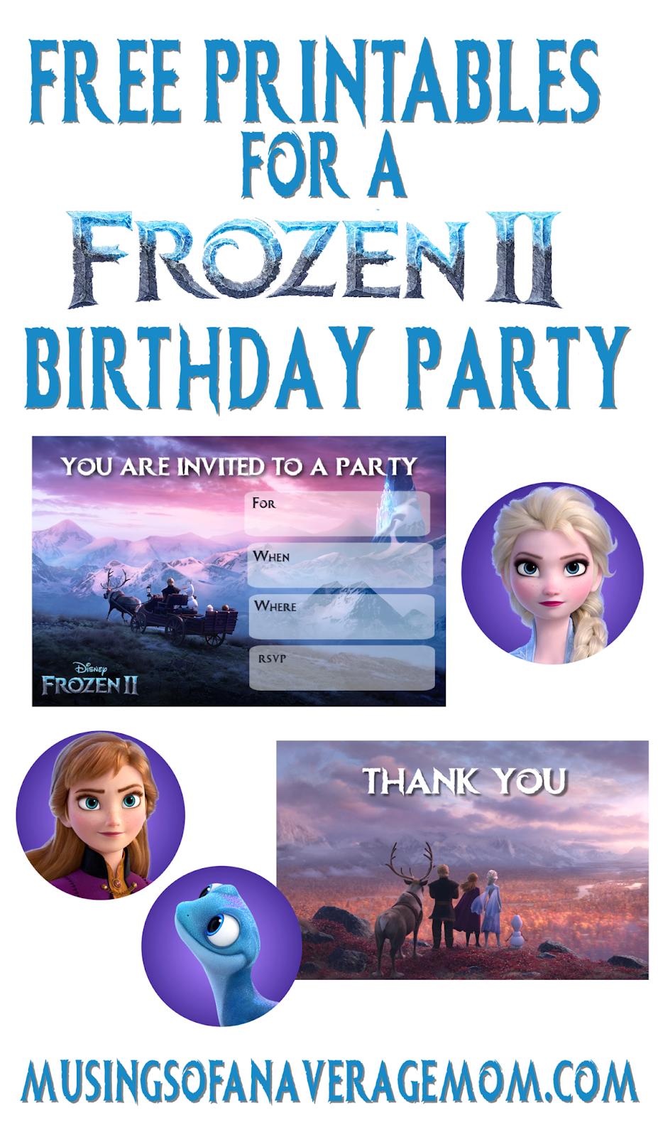 frozen 2 birthday printables