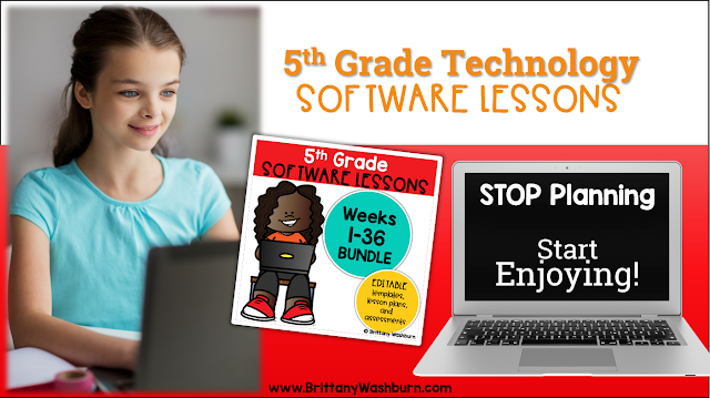 5th Grade Software Lessons for the Computer Lab