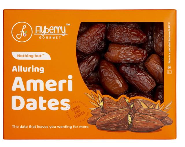 Flyberry Gourmet Ameri Dates (Khajoor) Dry Fruits, 800 G