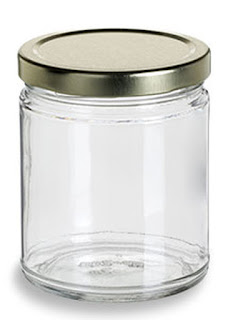 برطمان زجاجي شفاف بغطاء معدني