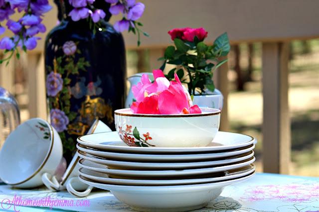 Homemaker, Homemaking, home, tablesetting, tablescape, Spring,