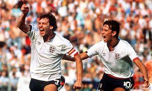 Bryan Robson and Gary Lineker Celebrate Scoring vs Holland 1988