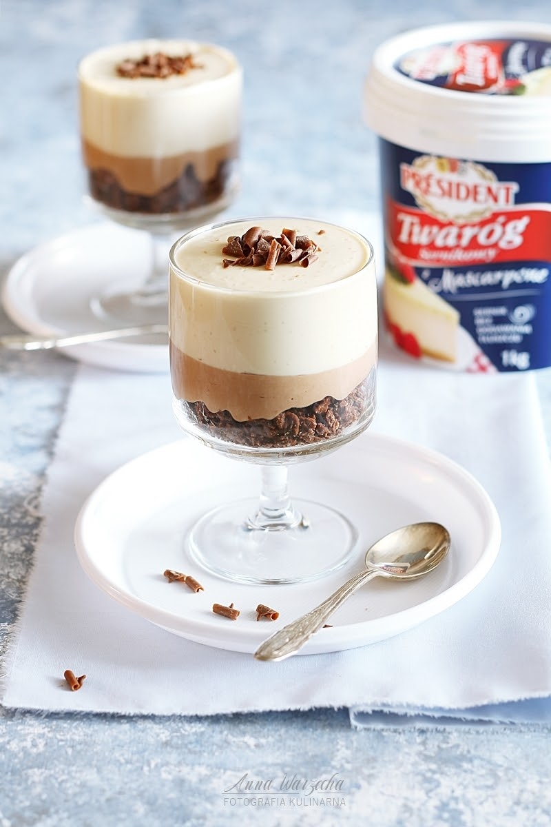 Kawowe serniczki z koniakiem na zimno