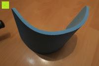 Matte vorne: KYLIN SPORT Bauchtrainer Ab Roller Bauchmuskeltrainer Dual Wheel Ab-Wheel mit Knie Pad